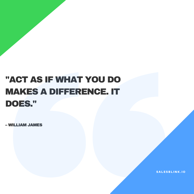 Inspirational quote by William James