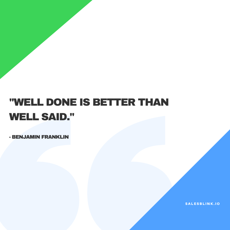 motivational quote by Benjamin Franklin