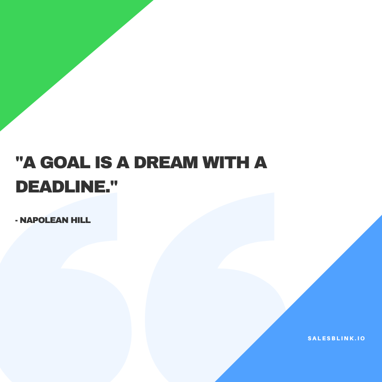 Sales inspirational quote by Napolean Hill