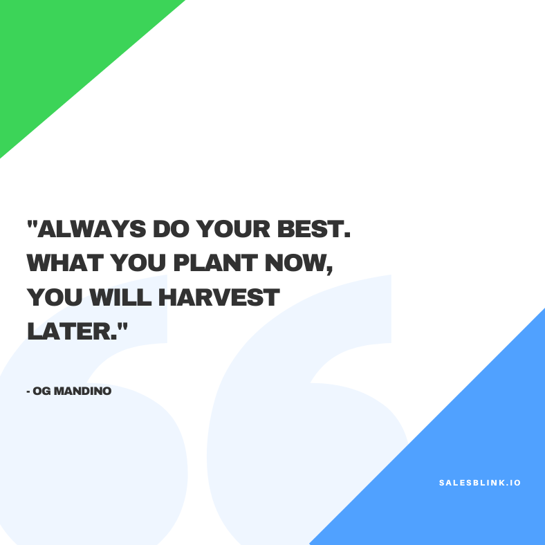 Sales motivational quote by Og Mandino