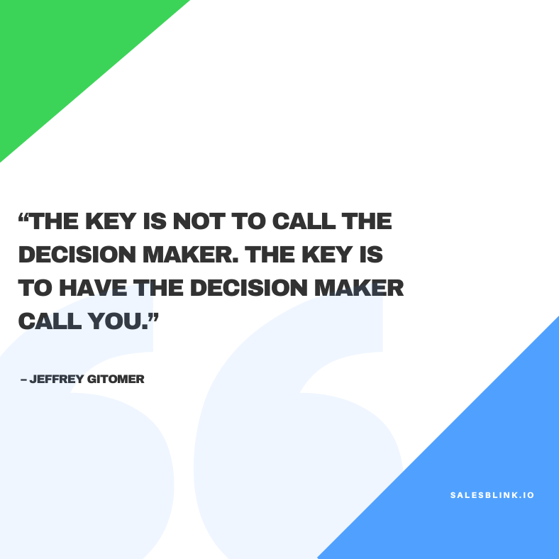 motivational quote by Jeffrey Gitomer