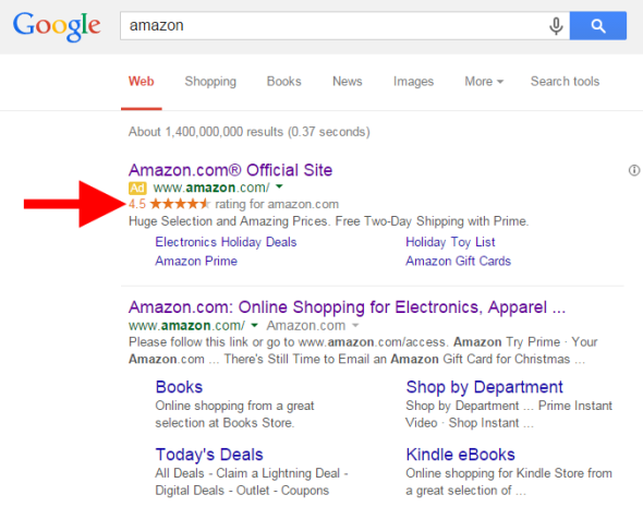 Paid ads on google showing testimonials for increased sales