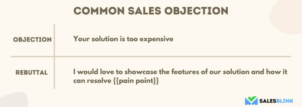 Overcome Sales Objection 1