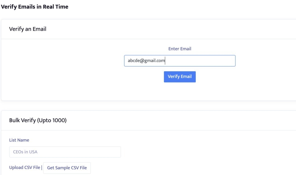 Email Verification Tool  - Enter email address