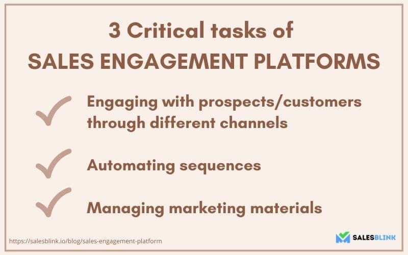3 critical tasks of sales engagement platforms